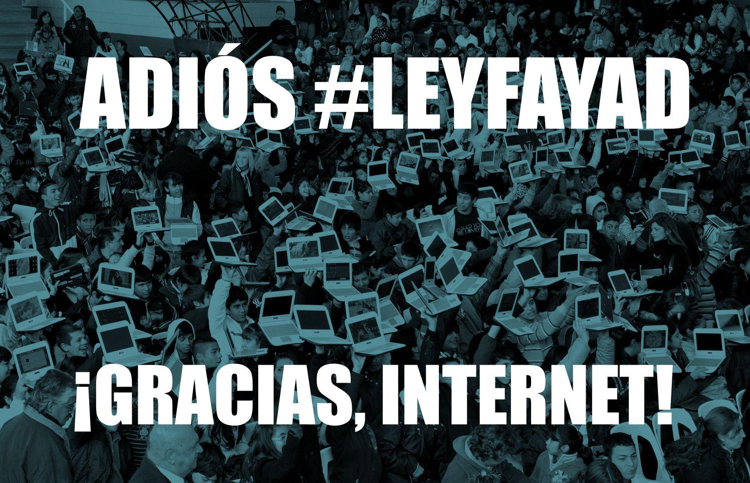 ¡Gracias, Internet! #LeyFayad es retirada del Senado