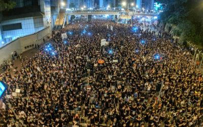 Manifestantes en Hong Kong libran una batalla contra el reconocimiento facial