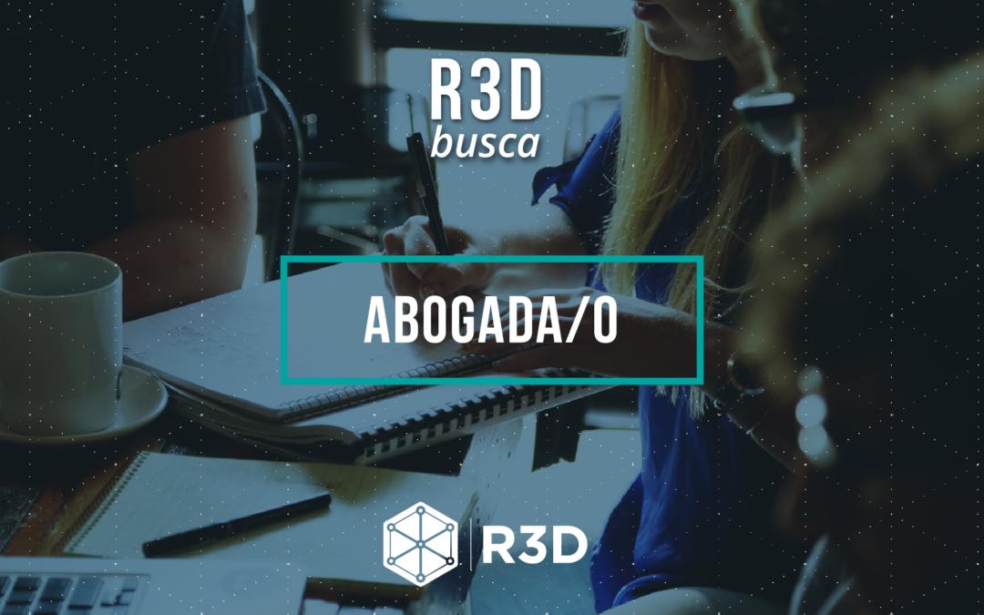 Convocatoria: R3D busca abogada/o