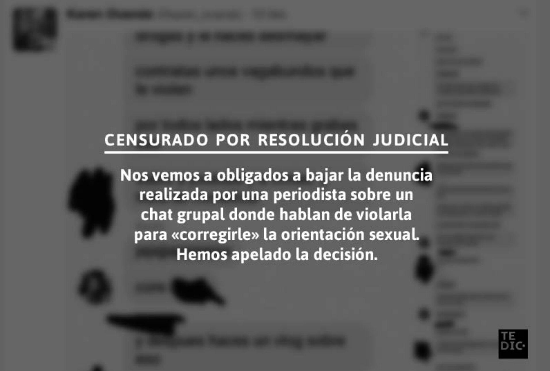 Jueza paraguaya autoriza censurar una imagen que denunciaba violencia machista contra periodista